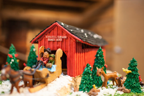 Photography of the Uptown for the Holidays Gingerbread House Display and Competition during the contest submission day on Dec. 1, 2015 at the Athens County HIstorical Society and Museum in Athens, Ohio.  [Photograph by Joel Prince]